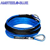 Custom Accessories AmSteel Blue 40' 1/4 Extension Recovery Winch Rope