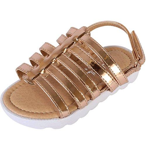 (Nicole Miller New York Toddler Girls Metallic Fisherman Sandals, Rose Gold, 6 M US Toddler' )