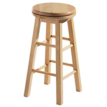Swell Revolve Solid Wood Rotating Kitchen Barstool Natural Machost Co Dining Chair Design Ideas Machostcouk