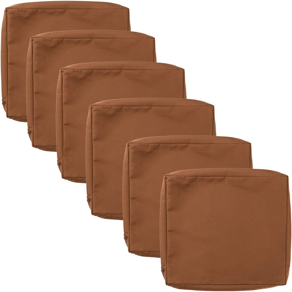 """Patio Chair Cushion Covers 6 Pack, Outdoor Seat Cushion Cover 24""""X22""""X4"""", Replacement Covers Only"""