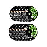 3 Inch 40 Grit Metal Cut-off Wheel 3/8'' Arbor; 10 Pack