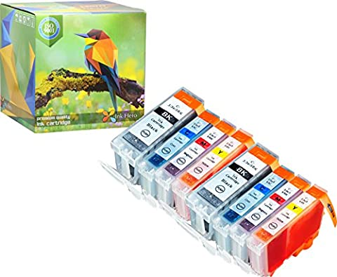 Ink Hero 8 Pack Ink Cartridges for BCI-3 BCI-6 Pixma iP3000 i560 printer inks for inkjet printers (All Start 560)