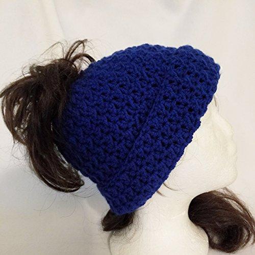 Messy Bun/Ponytail Beanie Hat
