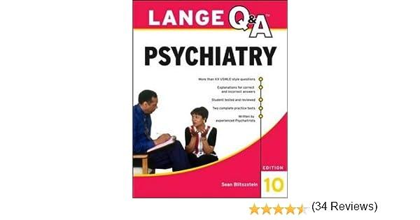 Lange Q&A Psychiatry, 10th Edition: 9780071703451: Medicine ...
