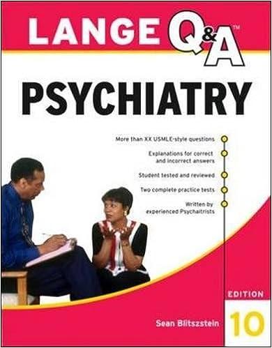 Lange Q A Psychiatry 10th Edition 9780071703451 Medicine Health