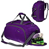 3-Way Travel Duffel Bag Backpack Travel Luggage Gym Sports Bag Shoe Compartment Men Women