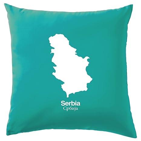 Silueta de Serbia - cojín 41 x 41 cm (16