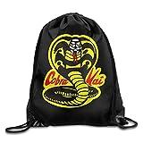 Cobra Kai Dojo Drawstring Backpack Sack Pack Bag Rucksack Kids Adults Shoulder Bags For Gym Traveling