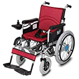 Fold Foldable Power Compact Mobility Aid Wheel Chair, Lightweight Folding Carry Electric Wheelchair, Motorized Wheelchair, Powerful Dual Motor Wheelchair