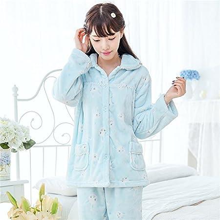 104d499f63c5 Syksdy Keep Warm Flannel Winter Pajamas Set For Women Sleepwear Ladies  Pajamas Cute Rabbit Print Robe Nightwear