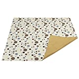 Zicac Splat Mat for Under High Chair Floor Mat Baby Anti-Slip Splash Mess Mat Portable Play Mat and Table Cover