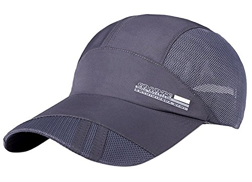 0fda8b2a029 FADA Lightweight Sports Cap Men Women-Quick Dry Hats Technology Running
