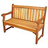 Hardwood Garden Furniture ALK Brands Adam Outdoor Four Foot Hardwood Bench (Natural Wood Finish)