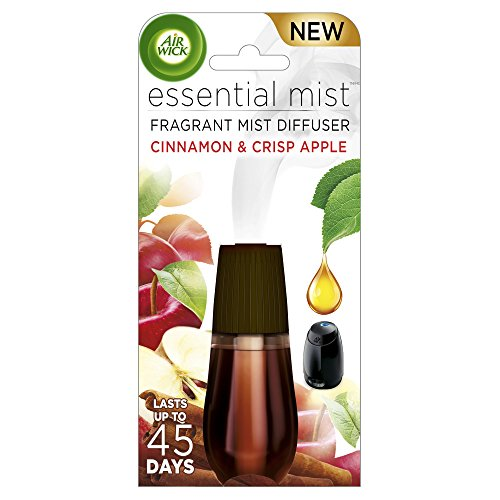 (Air Wick Essential Oils Diffuser Mist Refill, Cinnamon & Apple Crisp, 1ct, Air)