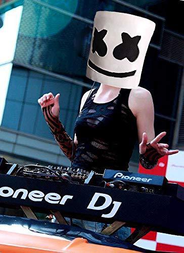 kldstar Máscara de Marshmallow, electrónica, para Disfraz de Halloween, DJ; máscara de Fiesta de Descanso de Horror Zombie: Amazon.es: Deportes y aire libre