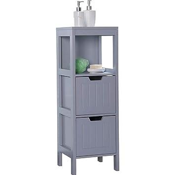 Etnicart – Mueble de baño de Madera Gris MDF 30 x 30 x 89 cm para