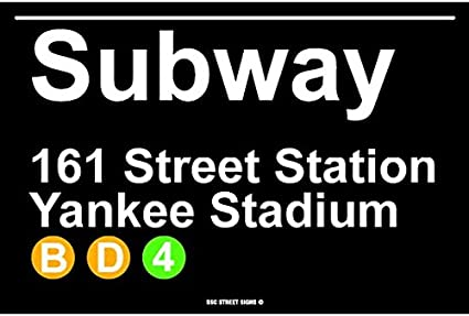 DKISEE Retro Metal Sign New York City Brooklyn Vintage Subway Poster Novelty Sign Aluminum for Outdoor /& Indoor 8x12