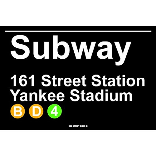 (Subway 161 Street Station Yankee Stadium NYC Aluminum Tin Metal Poster Sign Wall Decor 12x18)