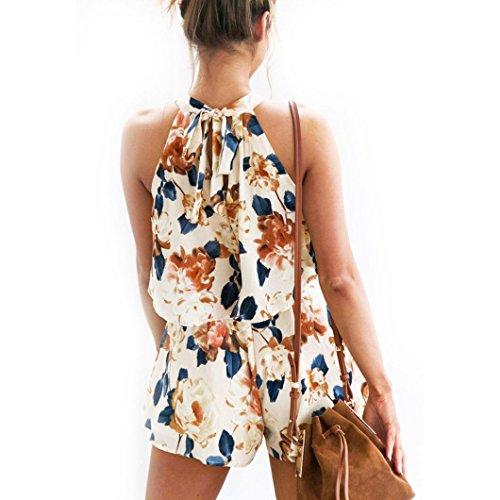 Winwintom Moda Mujer Verano gasa sin mangas blusa camisa Tops + Shorts Pant Set
