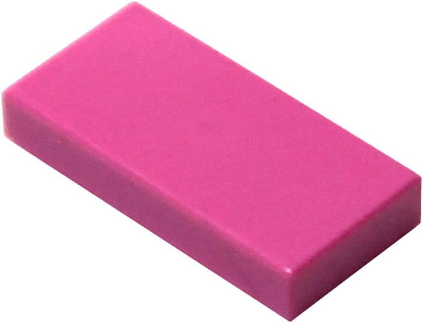 LEGO Parts and Pieces: Dark Pink (Bright Purple) 1x2 Tile x100