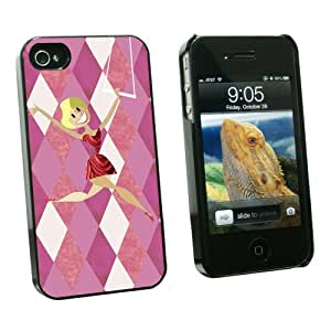 Graphics and More Big Top Circus Trapeze Artist - Snap On Hard Protective Case for Apple iPhone 4 4S - Black - Carrying Case - Non-Retail Packaging - Black