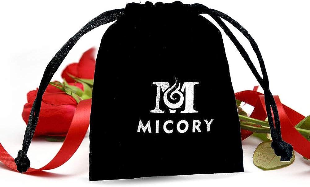 Anniversaire Cadeaux de F/ête Micory 3 Paires Boucles doreilles Femme Goujons Coeur en Argent Sterling 925 Boucles Doreilles Pour la F/ête des M/ères