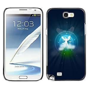 YiPhone /// Prima de resorte delgada de la cubierta del caso de Shell Armor - Libra Zodiac Sign - Samsung Galaxy Note 2 N7100