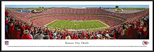Kansas City Chiefs - 50 Yard Line at Arrowhead Stadium - Panoramic Print Arrowhead Stadium Framed Photo