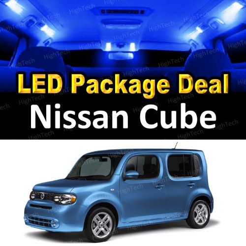 HighTechAutoAccessory - LED Interior Package Deal for 2009 Nissan Cube (6 Pieces), BLUE ()