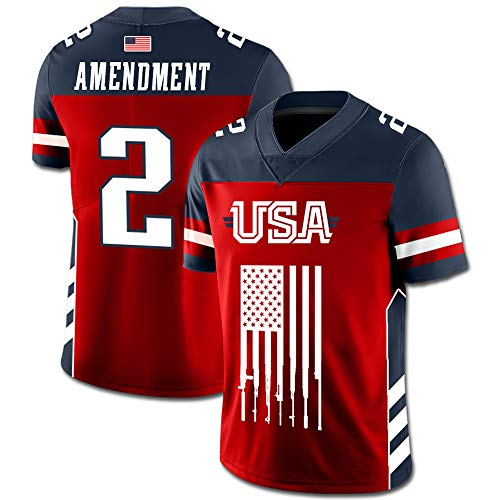 Greater Half Custom 2nd Amendment Football Jersey (Small-XXXXL) (Large)