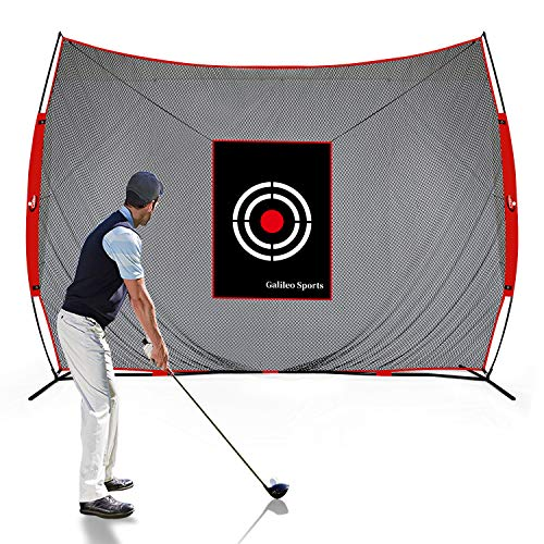 GALILEO Golf Practice Net 12X10Feet Golf Hitting Nets Driving Range Indoor Outdoor Golf Training Aids with Target Carry Bag