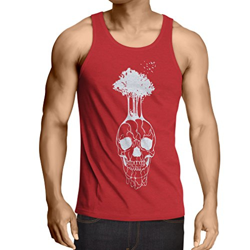 lepni.me N4341V Vest The Skull and The Tree (Medium Red Multicolor)