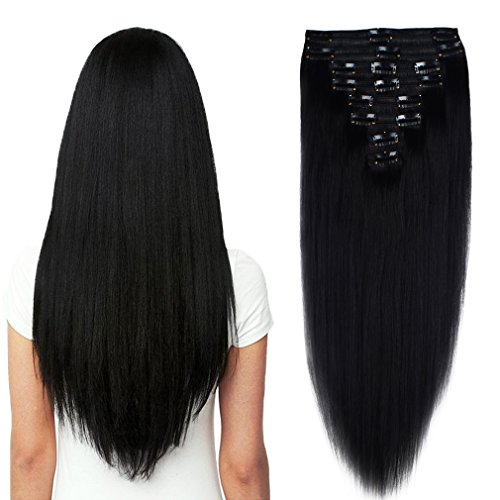 us-stock-150g-20-jet-black-straight-real-natural-thick-double-weft-full-head-set-clip-in-100-remy-hu