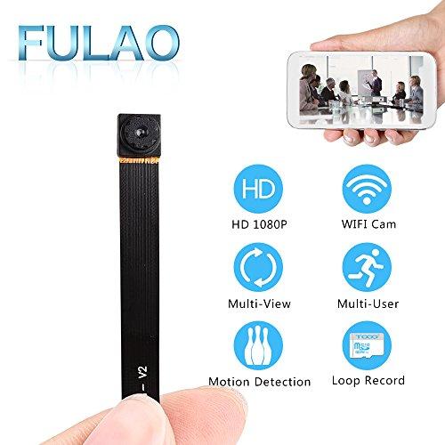 FULAO Mini Super Hidden Spy Wifi Cam 1080P HD Portable Nanny Camera Wireless Digital Video Recorder (Spy Portable Dvr)