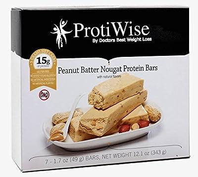 ProtiWise - Peanut Butter Nougat High Protein Diet Bars