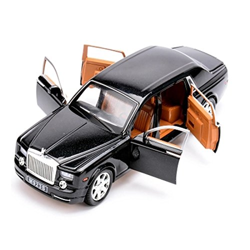 KMT Rolls-Royce Alloy Diecast Car Models Scale Model Plastic Model Kits (Black)