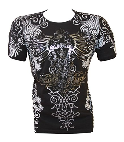 Tribal Tattoo T-shirt (Konflic NWT Men's All-Over Tribal Graphic MMA Muscle T-shirt, Black,)