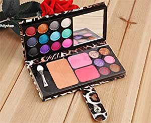 12 Color Eyeshadow Palette Professional Makeup Kit Cosmetic Blusher Powder Palette (Yellow)
