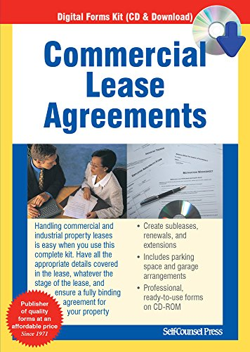 Commercial Lease Agreements (Forms on CD) (Lease Agreement Software)