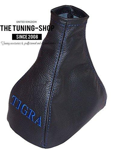 "blau bestickt The Tuning-Shop Ltd Schaltmanschette Leder /""Tigra/"""