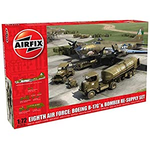 Airfix Eighth Air Force: Boeing B-17G & Bomber Re-Supply Set 1:72 Collector Airplane Kit