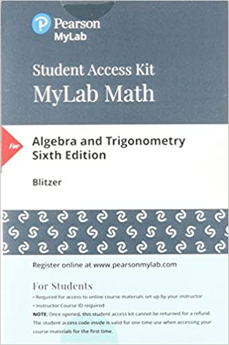 Mylab math with pearson etext standalone access card for mylab math with pearson etext standalone access card for algebra and trigonometry 6th edition 6th edition by robert f blitzer fandeluxe Choice Image