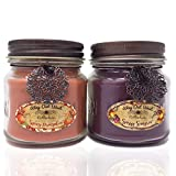 Festive Jar Candle Gift Pack -Add Cheer with Fragrant & Long Lasting Candles of Sassy Sangria, a Delightful Cranberry/Orange Blend and Spicy Pumpkin, Like Grandma's Kitchen!