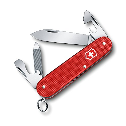 Swiss Army Victorinox Cadet Alox 84mm Medium Pocket Knife, 2018 Limited Edition, Berry Red