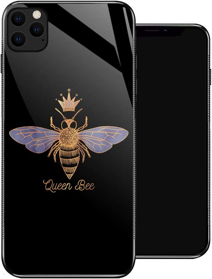 iPhone 11 Case,Queen Bee iPhone 11 Cases for Girls,Non-Slip Pattern Design Back Cover[Shock Absorption] Soft TPU Bumper Frame Support Case for iPhone 11 6.1-inch Golden Yellow Crown Industrious Bee
