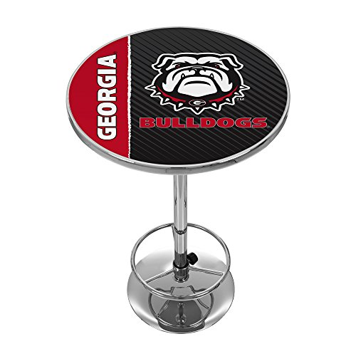Georgia Pub Table - Trademark Gameroom University of Georgia Chrome Pub Table - Text