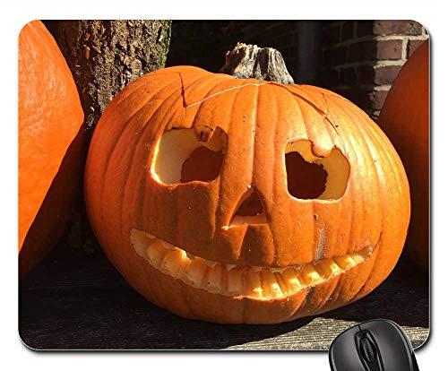 Mouse Pad - Pumpkin Halloween Ghosts Autumn Orange Vegetables]()