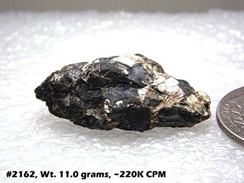Rare earth uranium oxide, high grade unrefined uranium ore uraninite, for Geiger counter & radiation detector test source!