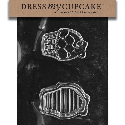 Dress My Cupcake Chocolate Candy Mold, Easter Basket Pour Bo