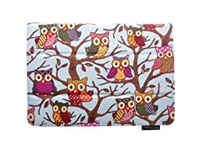 """ThanksCase Sky Blue Owls Case Cover for Amazon Kindle Fire HD 7 2nd Gene (will only fit Kindle Fire HD 7"""" 2013 Release) Canvas Owls Case with Standing Feature with Elastic Hand Strap for HD 7 2013 Release.(Sky Blue Owls)"""